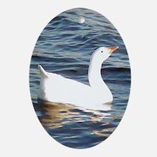 White Goose Ornament (Oval)