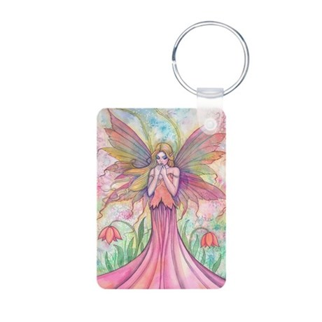 Wildflower Fairy Watercolo Aluminum Photo Keychain