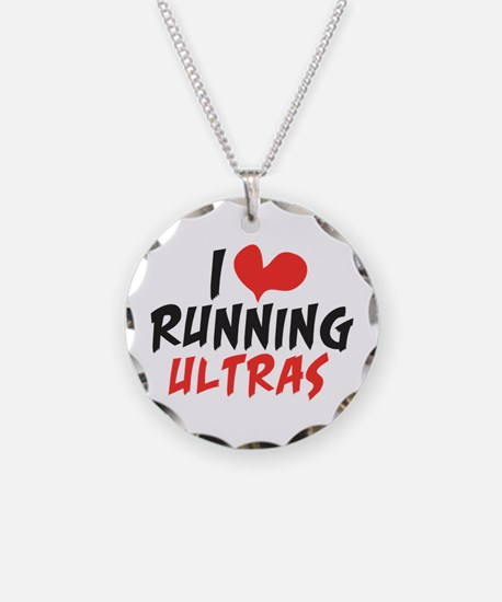 I heart Running Ultras Necklace Circle Charm