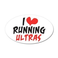 I heart Running Ultras Wall Decal