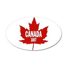 Canada 1867 38.5 x 24.5 Oval Wall Peel