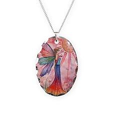 Sunshine and Rainbow Fairy Necklace Oval Charm