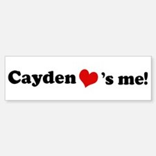 Cayden loves me Bumper Bumper Bumper Sticker