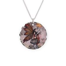 Autumn Fairy Necklace Circle Charm