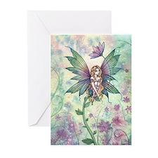 Mystic Garden Flower Fairy Art Greeting Cards (Pk