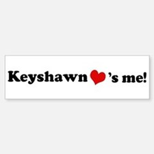 Keyshawn loves me Bumper Car Car Sticker