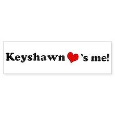 Keyshawn loves me Bumper Car Sticker