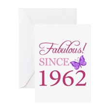 Fabulous Since 1962 Greeting Card
