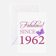 Fabulous Since 1962 Greeting Card