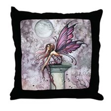 The Lookout Fairy Fantasy Art Throw Pillow