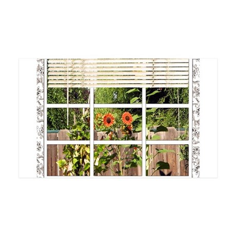 Garden View 35x21 Wall Decal