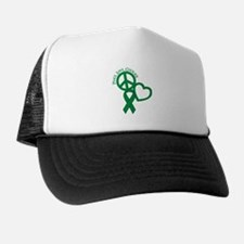 Peace,Love,Courage Trucker Hat