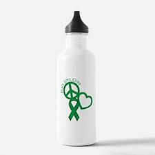 Peace, Love, Cure Water Bottle
