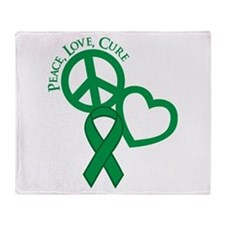Peace, Love, Cure Throw Blanket