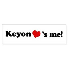 Keyon loves me Bumper Car Sticker