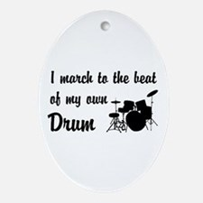 March to the Beat: Drum Kit Ornament (Oval)