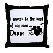 March to the Beat: Drum Kit Throw Pillow