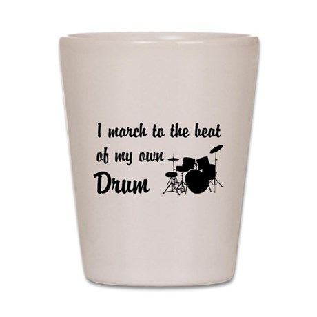 March to the Beat: Drum Kit Shot Glass
