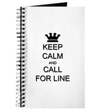 Keep Calm Call For Line Journal