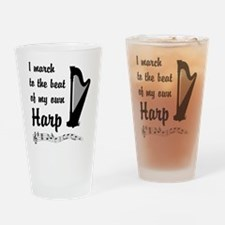 March to the Beat: Harp Drinking Glass