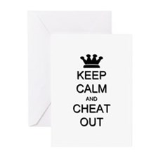 Keep Calm Cheat Out Greeting Cards (Pk of 20)