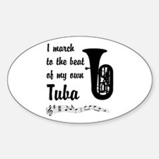 March to the Beat: Tuba Decal