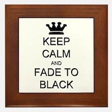 Keep Calm Fade to Black Framed Tile