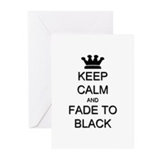 Keep Calm Fade to Black Greeting Cards (Pk of 10)