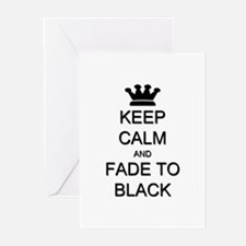 Keep Calm Fade to Black Greeting Cards (Pk of 20)