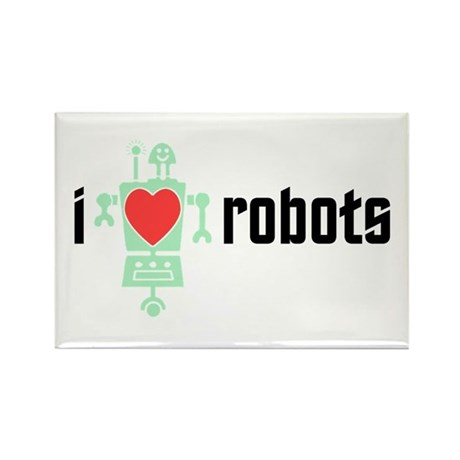 I Heart Robots Rectangle Magnet