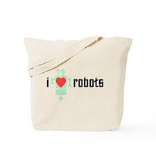 I Heart Robots Tote Bag