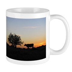Cow At Sundown Mug