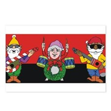 Elf Christmas band Postcards (Package of 8)
