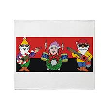 Elf Christmas band Throw Blanket