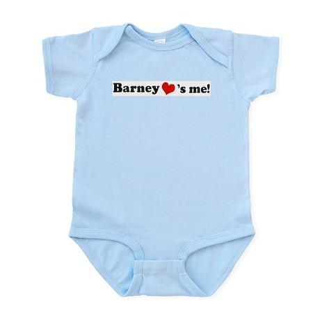 Barney loves me Infant Creeper
