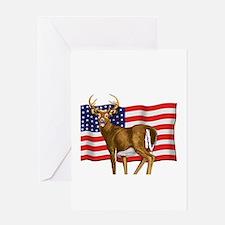 American White Tail Deer Buck Greeting Card