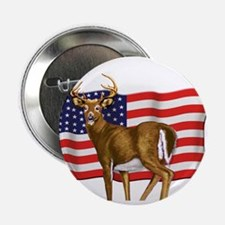 "American White Tail Deer Buck 2.25"" Button (10 pac"