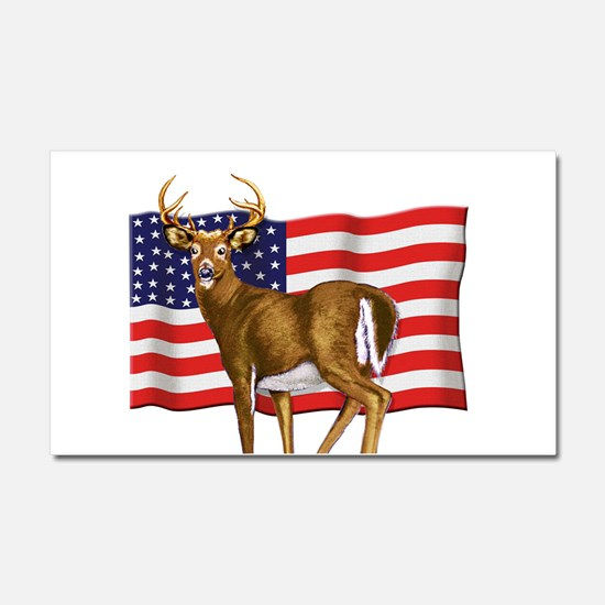 American White Tail Deer Buck Car Magnet 20 x 12