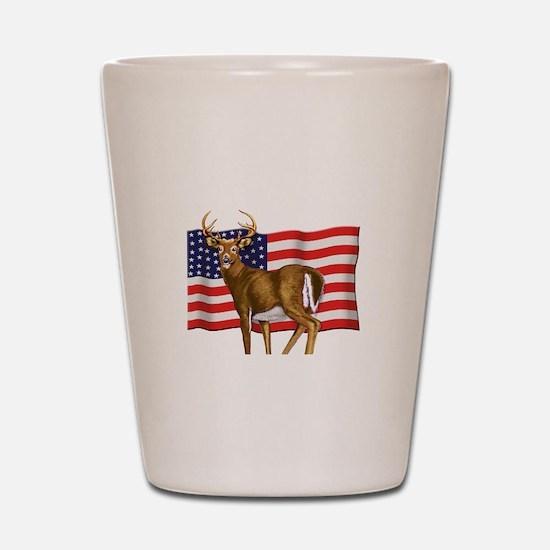 American White Tail Deer Buck Shot Glass