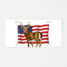 American White Tail Deer Buck Aluminum License Pla