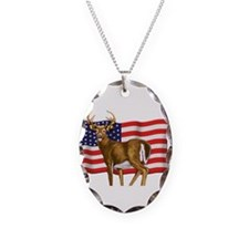 American White Tail Deer Buck Necklace