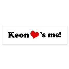 Keon loves me Bumper Bumper Sticker