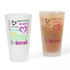 Soccer Repeating Drinking Glass