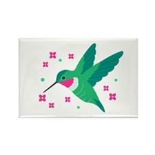 Delightful Little Hummingbird Rectangle Magnet
