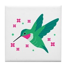 Delightful Little Hummingbird Tile Coaster