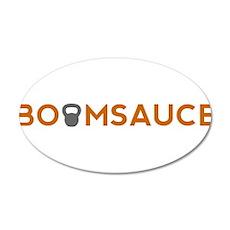 Boomsauce - Mini Kettlebell 22x14 Oval Wall Peel