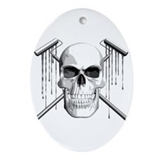 Skull Painter Ornament (Oval)