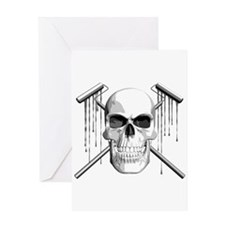 Skull Painter Greeting Card