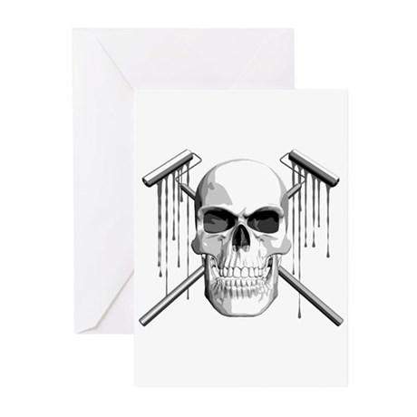 Skull Painter Greeting Cards (Pk of 10)