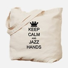 Keep Calm Jazz Hands Tote Bag
